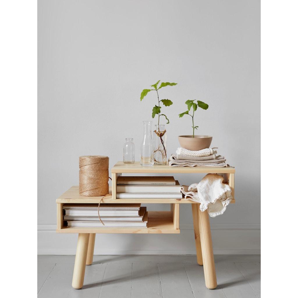 Karup Design Couchtisch »Hako«, Vierbeiniger Couchtisch mit zwei Stauräumen