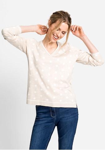 Olsen V-Ausschnitt-Pullover, mit Punkten kaufen