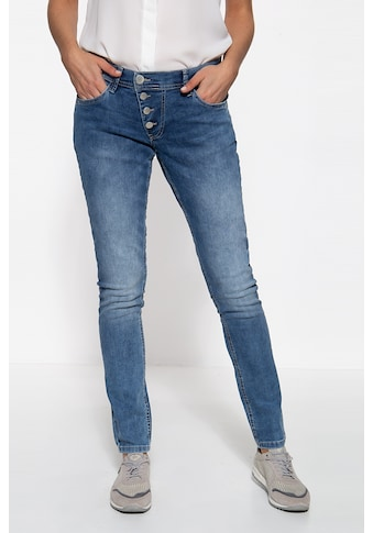 Way of Glory Slim-fit-Jeans, mit asymmetischer Knopfleiste kaufen