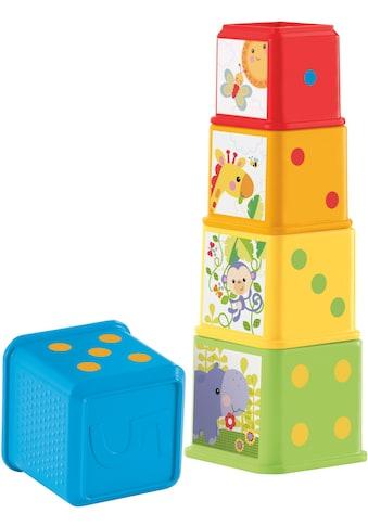 Fisher-Price® Stapelspielzeug »Entdecker- und Stapelwürfel«, (5 tlg.) kaufen