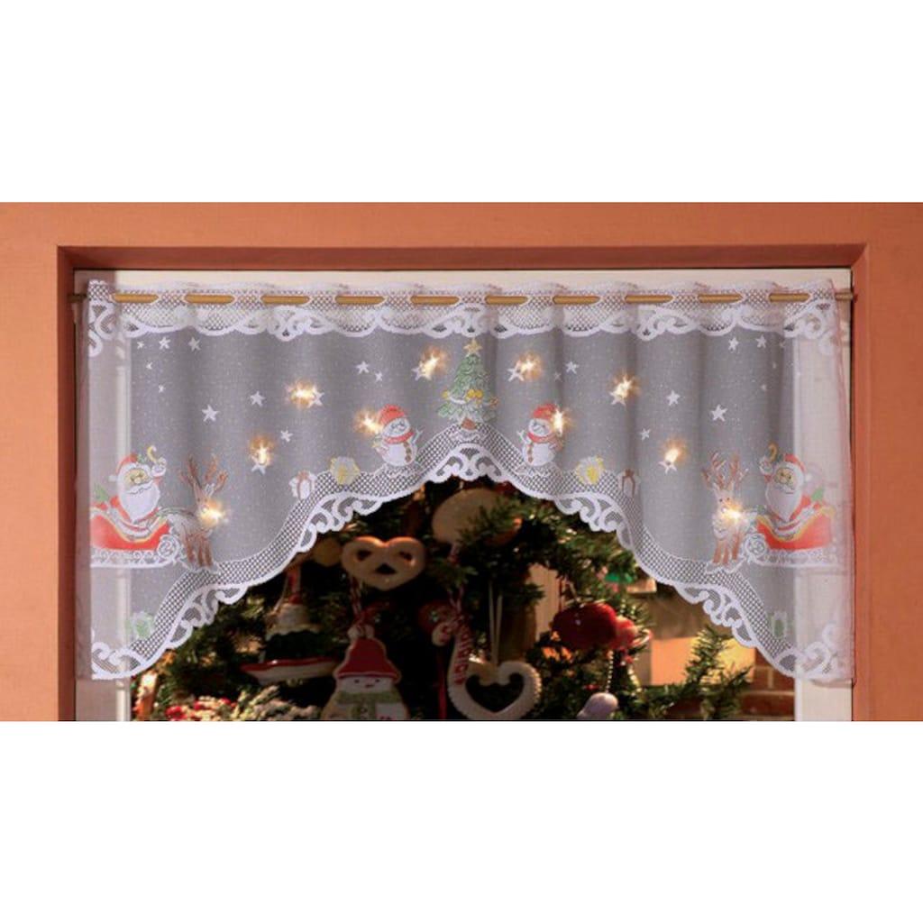 WILLKOMMEN ZUHAUSE by ALBANI GROUP Panneaux »Weihnachtsmann«, Jacquard-Panneauxbogen, handcoloriert