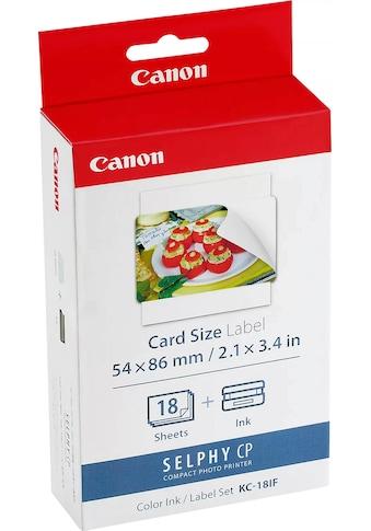 Canon Tintenpatrone »KC-18IF Papier + Farbkartusche«, (Set) kaufen