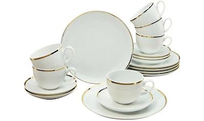 Guido Maria Kretschmer Home&Living Kaffeeservice »Golden Line«, (Set, 18 tlg.), handbemalter Goldrand kaufen