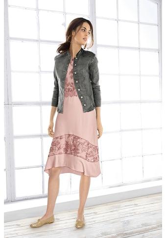 LINEA TESINI by Heine Jerseykleid, mit hochwertigen Spitzendetails kaufen