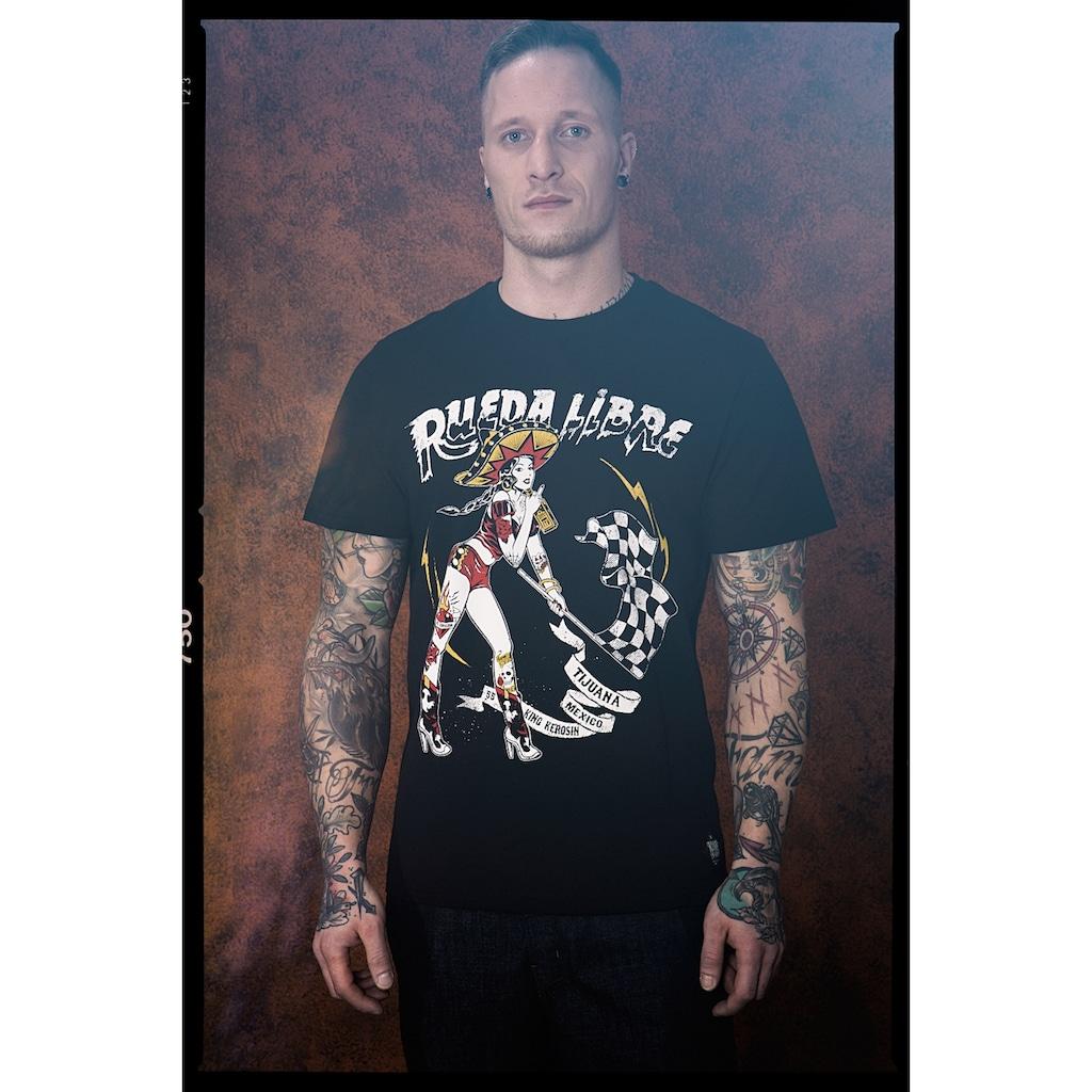 KingKerosin Print-Shirt »Rueda Libre«, mit Front Print