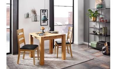 Home affaire Essgruppe »Nils 1« (Set, 3 - tlg Tisch 80 x 80, 2 Stühle, Polstersitz) kaufen