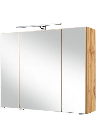 HELD MÖBEL Spiegelschrank »Malibu«, Breite 80 cm, mit Spiegeltüren und Türendämpfern kaufen