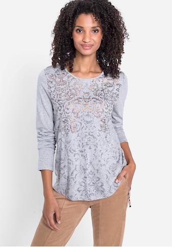 Olsen Rundhalsshirt, mit schimmerndem Effekt vorne kaufen