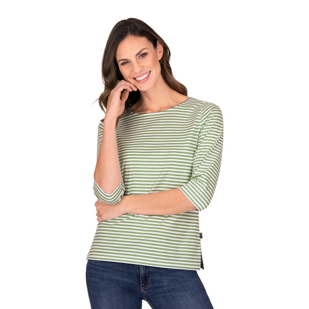 Trigema 3/4-Arm-Shirt, aus 100% Baumwolle mit 3/4-Arm