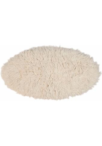 Theko Exklusiv Wollteppich »Flokos 2«, oval, 61 mm Höhe, reine Wolle, handgewebt, Wohnzimmer kaufen