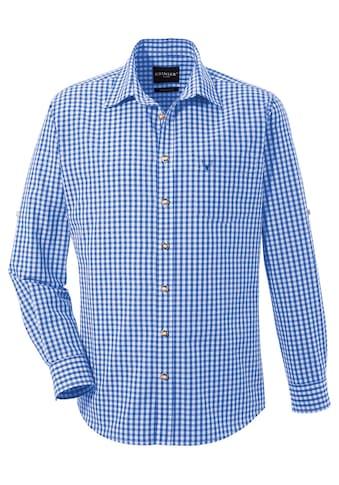 Krüger Buam Trachtenhemd mit Krempelärmel kaufen