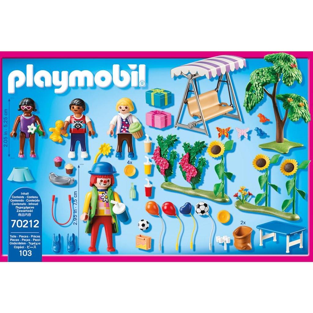 Playmobil® Konstruktions-Spielset »Kindergeburtstag mit Clown (70212), Dollhouse«, (103 St.), Made in Germany