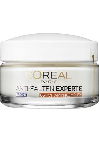 L'ORÉAL PARIS Anti-Aging-Creme »Anti-Falten Experte Feuchtigkeitspflege Nacht für Haut 65+« kaufen