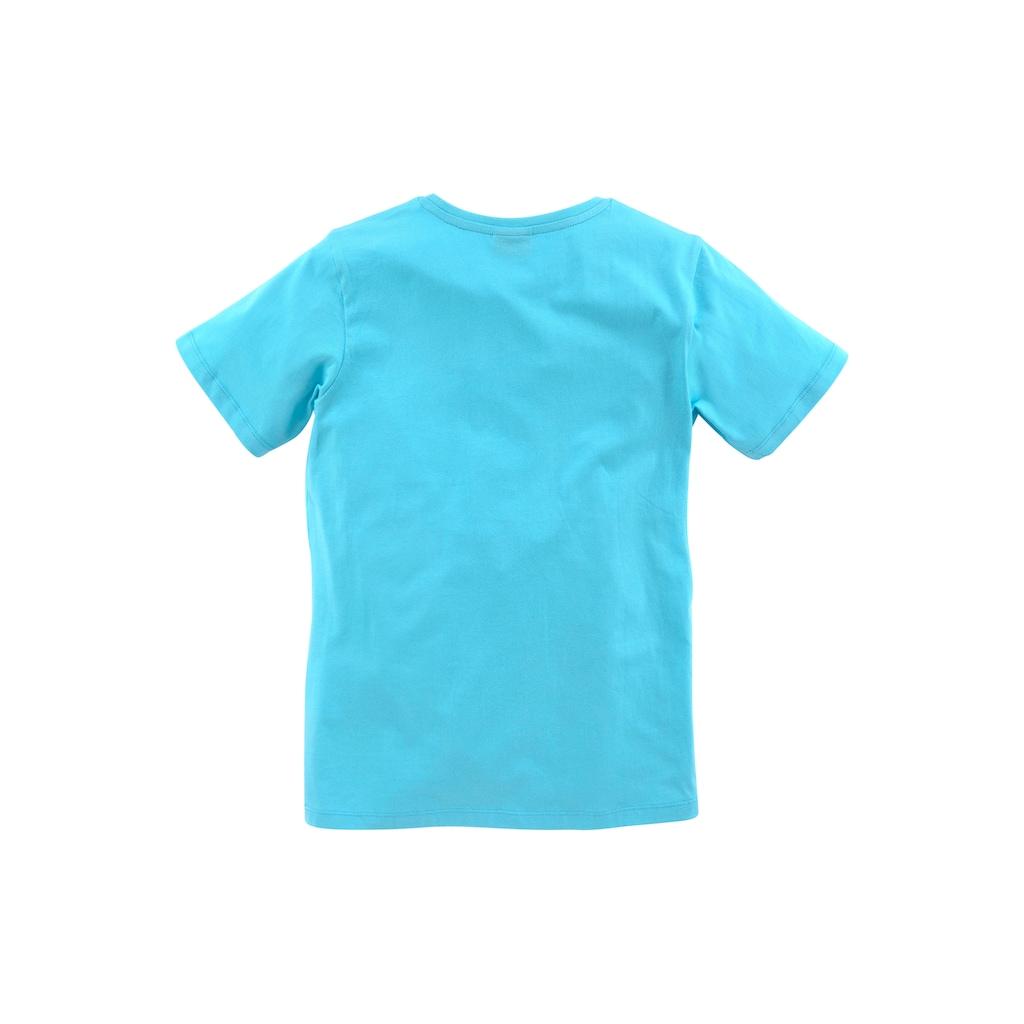 KIDSWORLD T-Shirt »WECK MICH VOR DER PAUSE«