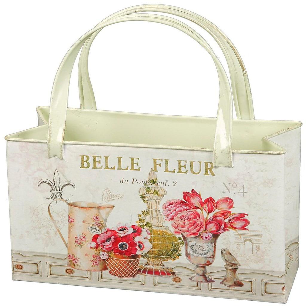 Ambiente Haus Übertopf »Fleur-Tasche aus Metall«