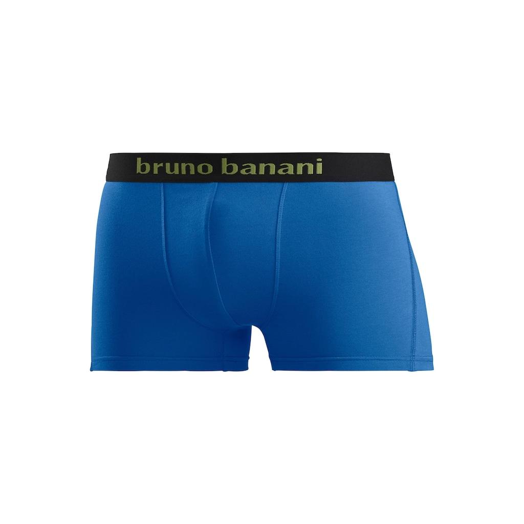 Bruno Banani Boxer, (4 St.), mit farbigen Marken-Schriftzug am Bündchen