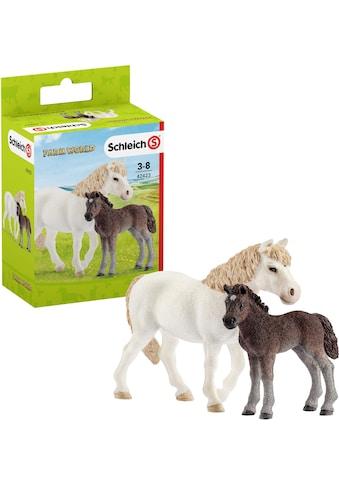 """Schleich® Spielfigur """"Farm World, Pony Stute mit Fohlen (42423)"""", (Set) kaufen"""