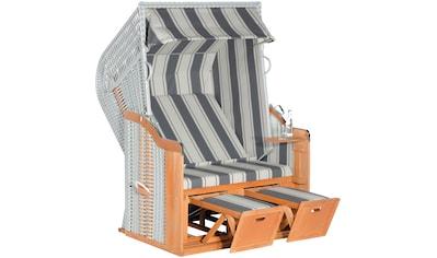 SUNNY SMART Strandkorb »Rustikal 250 Basic 640«, BxTxH: 125x90x160 cm, silberfarben kaufen