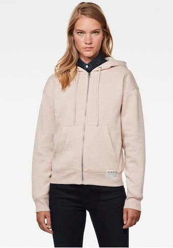 G-Star RAW Sweatjacke »Premium Core Hooded Zip Through Sweatshirt«, mit Kängurutasche und weiter Kapuze mit Kordelzug kaufen