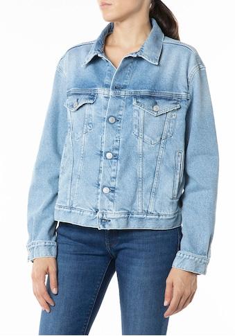 Replay Outdoorjacke, kurze Jeansjacke im klasischen Style mit Elasthan kaufen