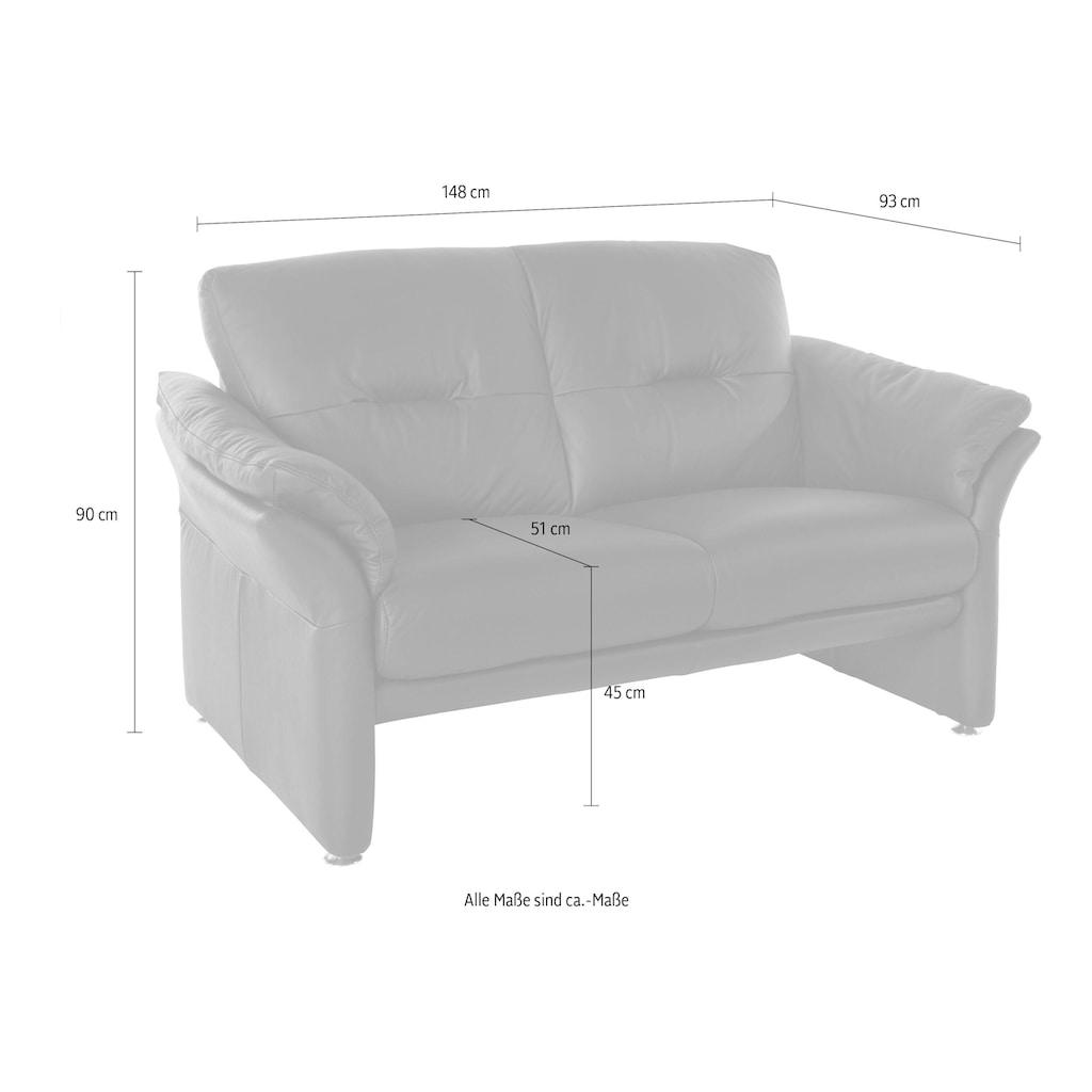 W.SCHILLIG 2-Sitzer »glenn«, mit geschwungenen Armteilen, Breite 148 cm