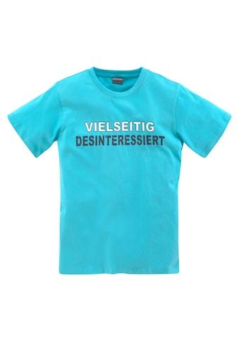 KIDSWORLD T-Shirt »VIELSEITIG DESINTERESSIERT« kaufen