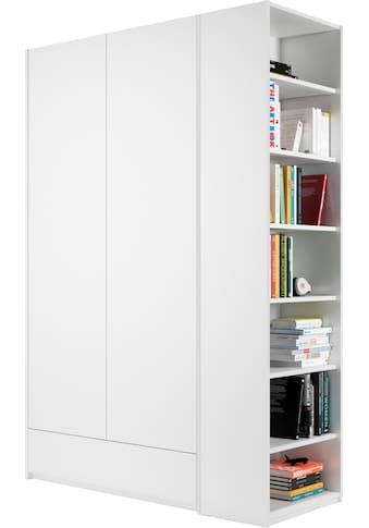 Müller SMALL LIVING Kleiderschrank »Modular Plus Variante 1«, inklusive 1 geräumigen Schublade, Anbauregal wahlweise links oder rechts montierbar kaufen