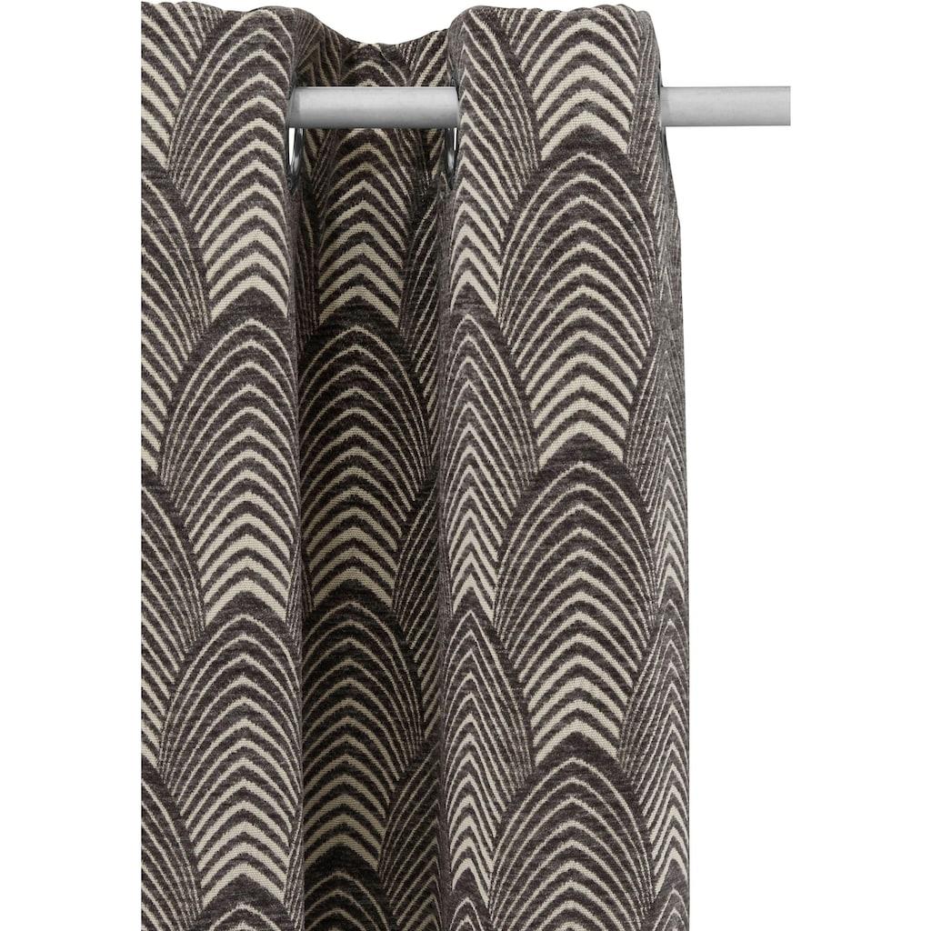 Leonique Vorhang »CHENILLE«, Samt Optik, Chenille, blickdicht mit aufwendigem Muster