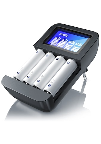 Aplic Universal 4 Schacht Batterie Ladegerät »geeignet für