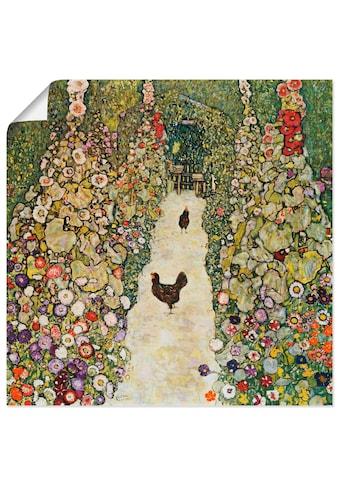 Artland Wandbild »Gartenweg mit Hühnern« kaufen