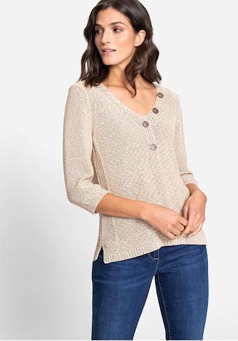 Olsen V-Ausschnitt-Pullover, mit dekorativen Knöpfen am Ausschnitt kaufen