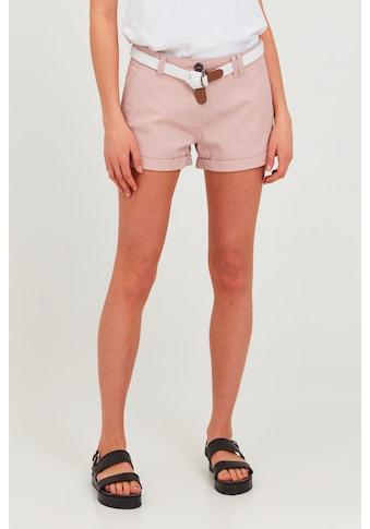 OXMO Chinoshorts »Chanett«, (mit abnehmbarem Gürtel), Shorts mit Gürtel in... kaufen