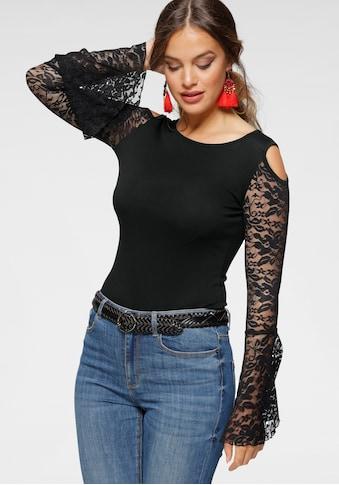 Melrose Rundhalsshirt, mit Volantärmeln aus Spitze kaufen