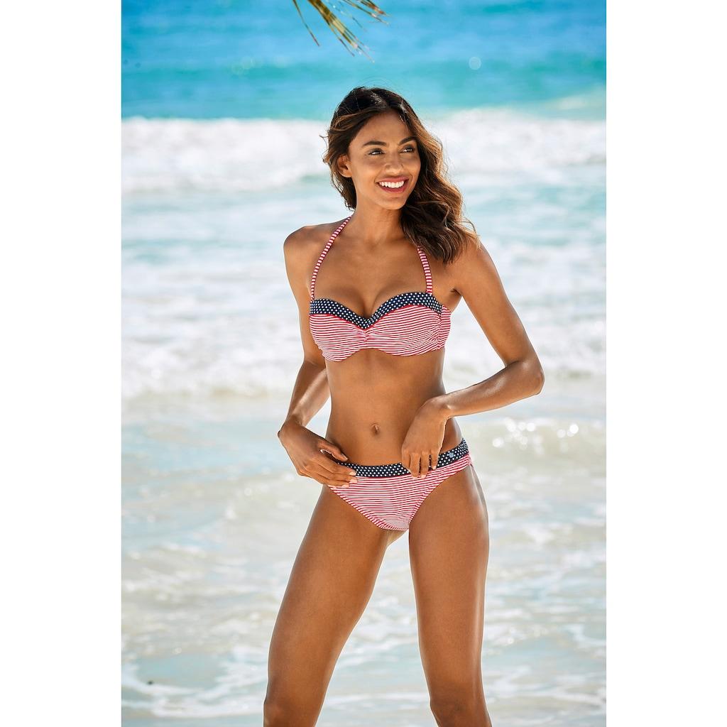 s.Oliver Beachwear Bandeau-Bikini-Top »Avni«, mit geraffter Mitte