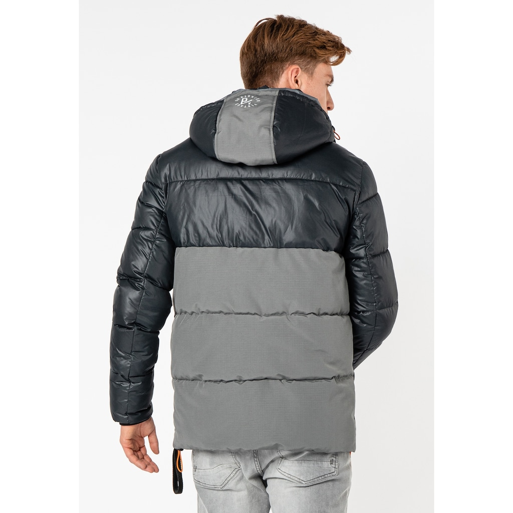 SUBLEVEL Steppjacke, mit Colourblock