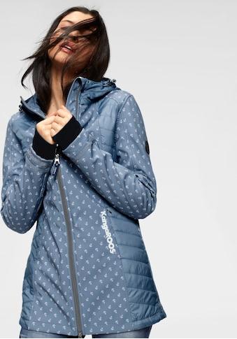 KangaROOS Softshelljacke, mit Stepp-Einsätzen und gesteppter Kapuze, uni oder mit Anker Druck kaufen