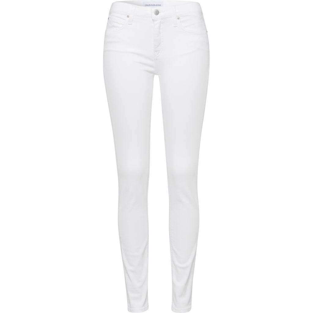 Calvin Klein Jeans Skinny-fit-Jeans, Mit CK Branding-Knöpfen