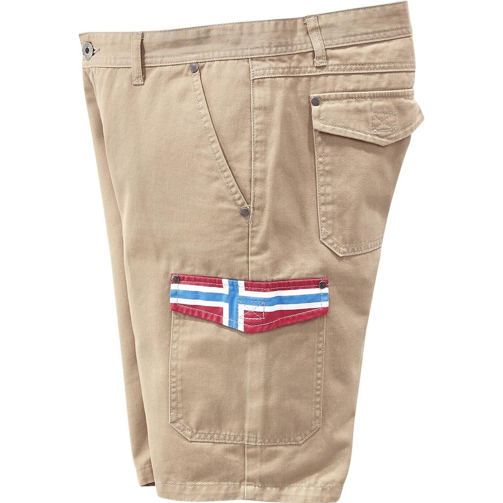 Jan Vanderstorm Cargobermudas »KRISTOF«, kurze Cargohose, Comfort Fit