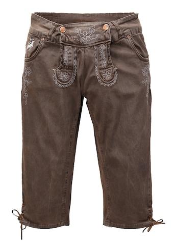 Hangowear Trachtenhose 3/4 Damen mit seitlicher Beinschnürung kaufen