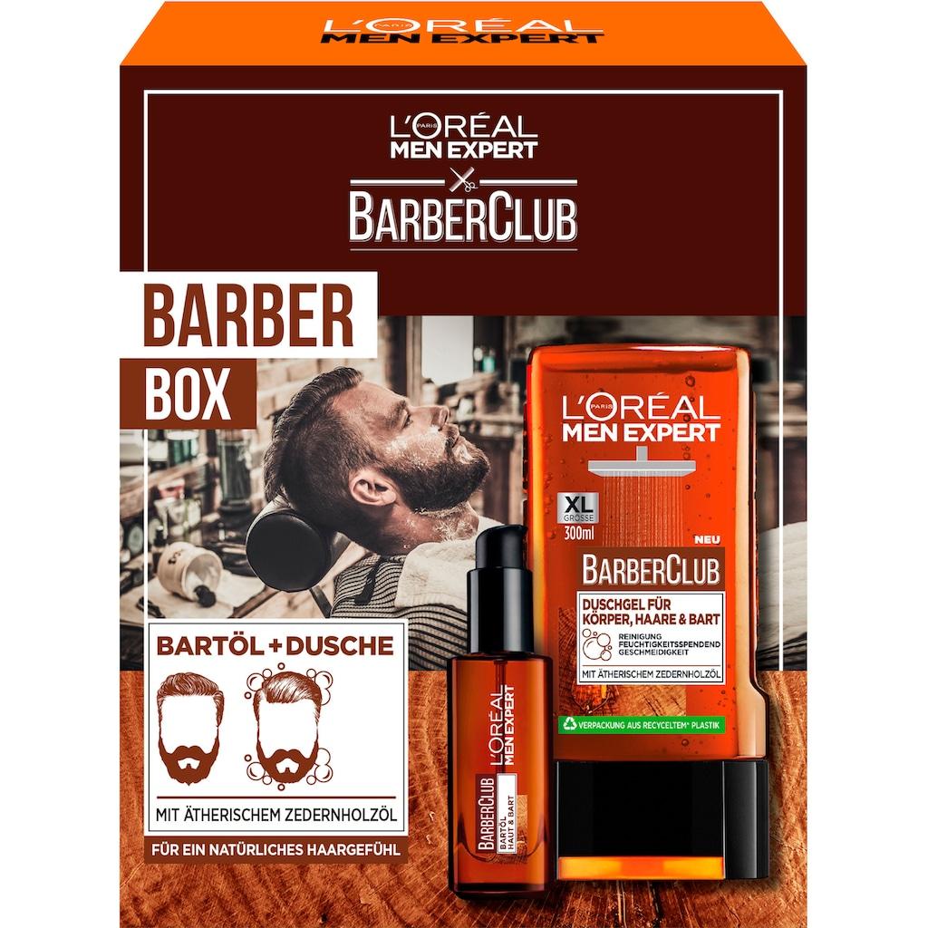 L'ORÉAL PARIS MEN EXPERT Bartpflege-Set »Barber Club Box Geschenkset«, (2 tlg.)