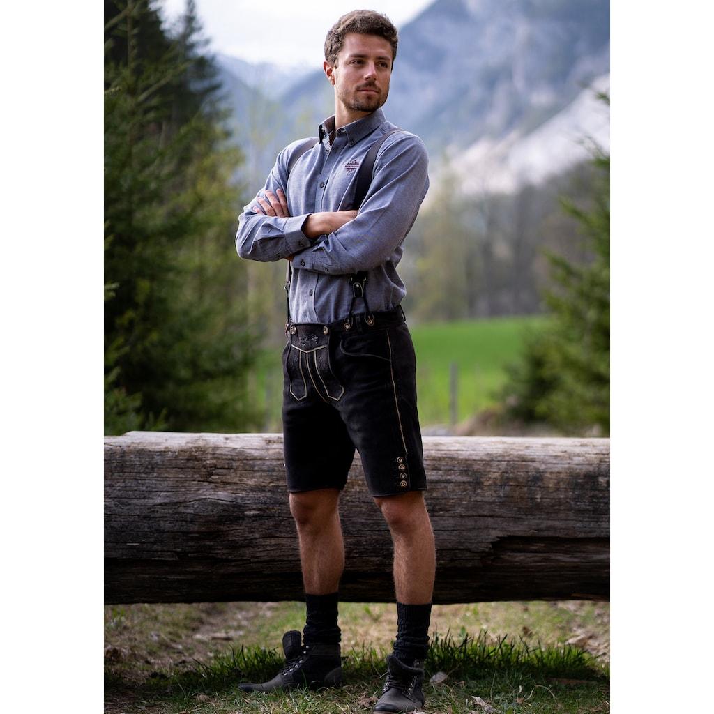Andreas Gabalier Kollektion Trachtenlederhose, (2 tlg.), mit verstellbaren Trägern