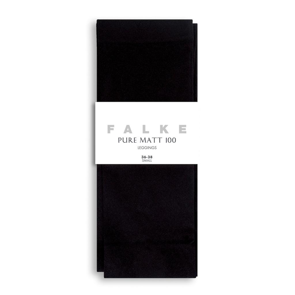 FALKE Feinstrumpfleggings »Pure Matt«, 100 DEN, (1 St.), blickdicht & matt