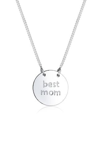 Elli Collierkettchen »Wording Muttertag Best Mom 925 Sterling Silber« kaufen