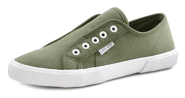 grüne Low-Top-Sneaker für Damen