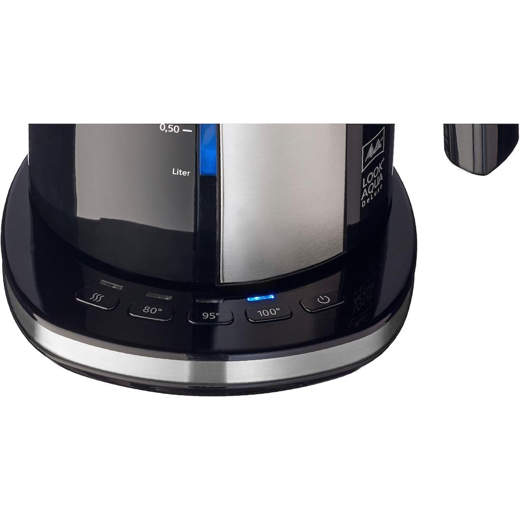Melitta Wasserkocher »Look Aqua II Deluxe 1026-04«, 1,7 l, 2400 W