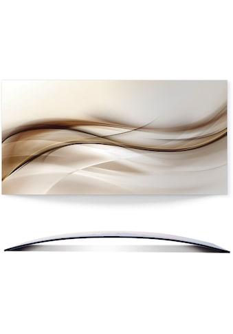 Artland Wandbild »Braune abstrakte Welle« kaufen