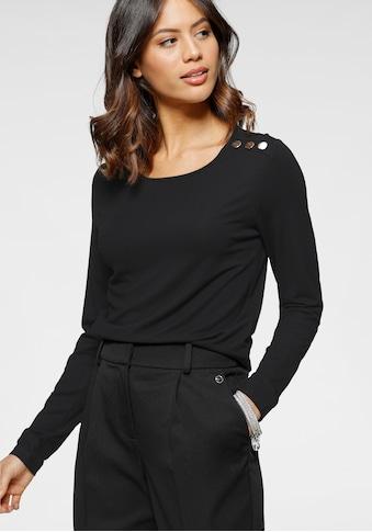 Laura Scott Langarmshirt, mit Zierknöpfen - NEUE KOLLEKTION kaufen