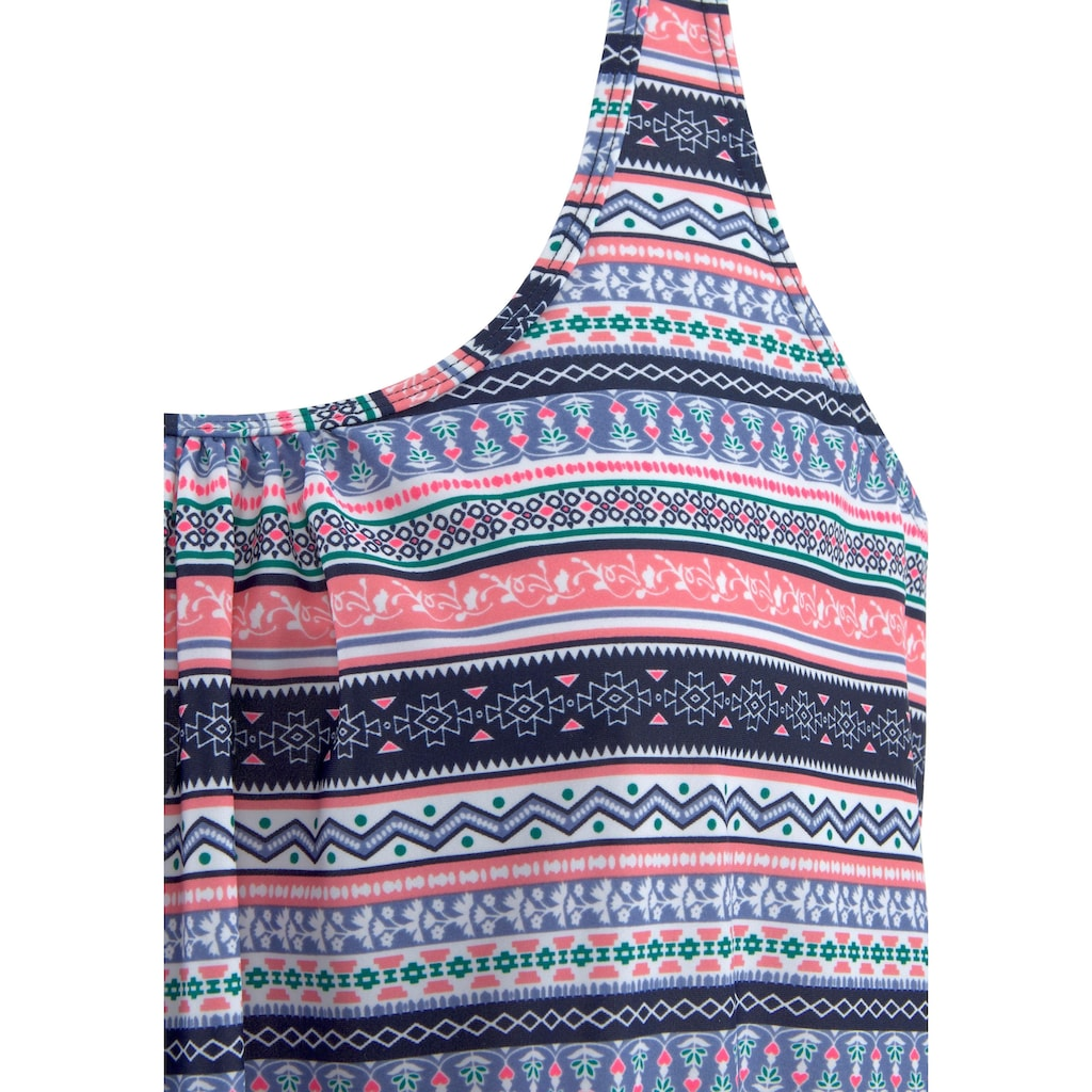 s.Oliver Beachwear Oversize-Tankini, mit schönem Bordürendruck