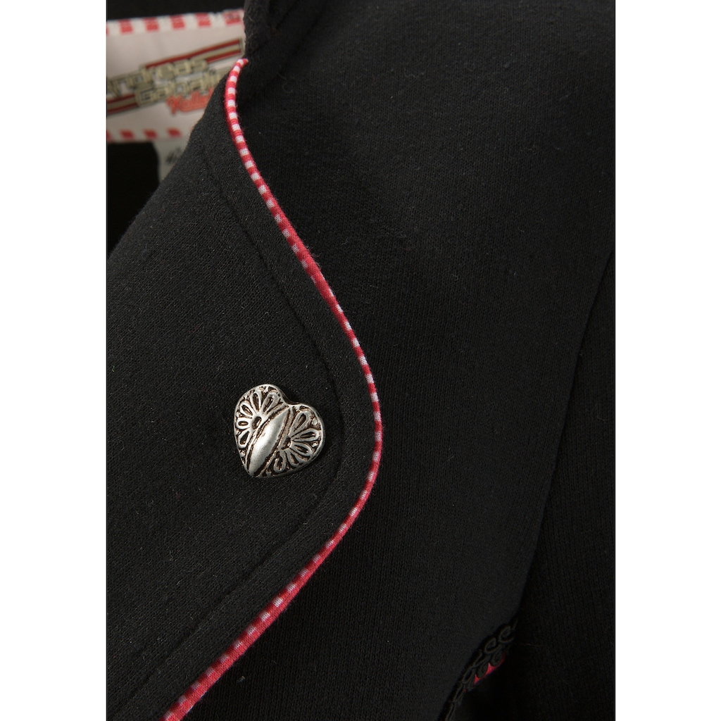 Andreas Gabalier Kollektion Trachtenblazer, Damen aus Sweat-Material mit Reverskragen