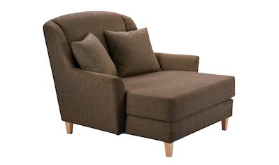 Max Winzer® XXL-Sessel »Julia«, Struktur, mit naturfarbenen Holzfüßen kaufen